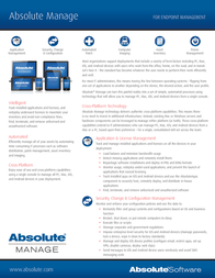 Absolute Software ABM-GD-24 Leaflet