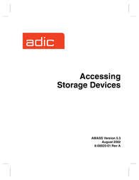 ADIC Tool Storage 6-00025-01 User Manual