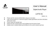 Latte m1 - 2gb User Guide