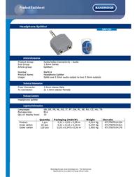 Bandridge BAP424 Leaflet