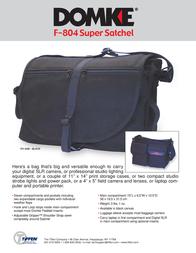 Domke F-804 701-84B Leaflet