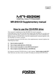Fostex MR-8HD/CD User Manual