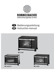 Rommelsbacher BG 1550 BG1550 User Manual