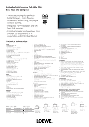LOEWE Individual 40 Compose Full-HD+ 100 DR+ 67437B48 Leaflet
