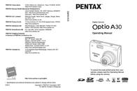 Pentax Optio A30 19215 User Manual