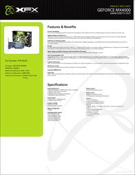 XFX GeForce MX4000 64MB PV-T18L-QTH7 Leaflet
