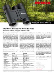 Minox BV 8x25 BR 62030 Leaflet