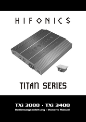 Hifonics TXi3400 TXI-3400 User Manual