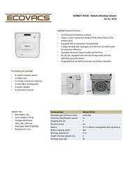 Ecovacs Winbot 730 W730 Leaflet