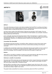 Adam Audio ARTist 5 ARTIST5ZWART Leaflet