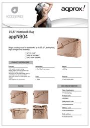 Approx APPNB04 Leaflet