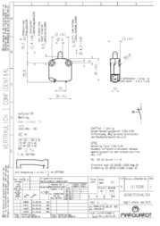 Marquardt Pushbutton 400 Vac 16 A 1 x On/(Off) IP40 momentary 1 pc(s) 1117.0201 Data Sheet