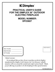 Dimplex 7207980300REV00 User Manual