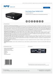 NPG MP800 HDTV 30E39TV-MP800 Leaflet