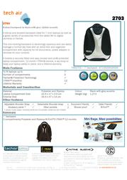 Tech air Robust backpack 2703 TAN2703 Leaflet