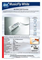 DNT MusicFly Mini Audio Transmitter 15500 Leaflet