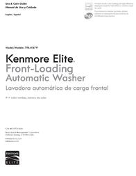 Kenmore Washer 796.4147 User Manual