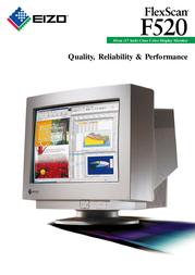 Eizo 45 cm (17 inch) Class Color CRT Monitor F520 Leaflet