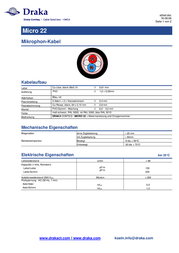 Draka 1002099 Speaker Cable, , Black Sheath 1002099 Data Sheet