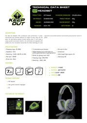 KeepOut HX7 HX7 HEADSET Product Datasheet
