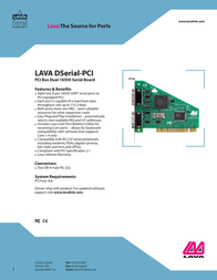 Lava DSerial DSERIAL-PCIPARALLEL Leaflet