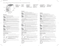Applica T3500 Toaster T3500 Leaflet