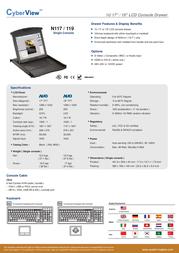 Austin Hughes Electronics Ltd N117-S801E-ES Leaflet