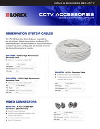 Lorex 100 ft. High Performance Cable CVA6806 Leaflet