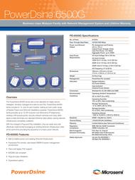 PowerDsine PD-6512G/AC/M Leaflet