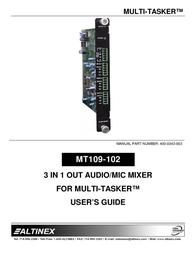 ALTINEX MULTI-TASKER MT109-102 User Manual