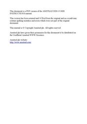 Amstrad DDI-1 User Manual
