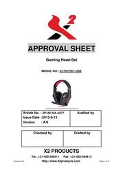 X2 Mars Virtual 7.1 X2-HS7501-USB User Manual