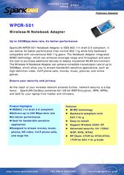 SparkLAN WPCR-501 Data Sheet