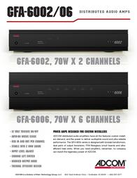 Adcom GFA-6002 Leaflet