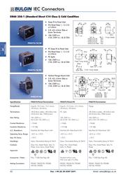 Eska Bulgin IEC connector C14 Plug, vertical mount Total number of pins: 3 + PE 10 A Black PX0575/10/28 1 pc(s) PX0575/10/28 Data Sheet