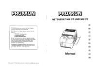 Proxxon Micromot NG 2/S Power Supply Unit 28 706 User Manual