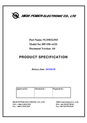High Power HP-550-A12S User Manual