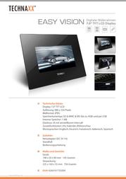 Technaxx Easy Vision EASY VISION Leaflet