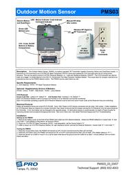 Hometech Outdoor Motion Sensor PMS03 Leaflet