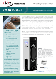 VXL tc1536 Specification Guide