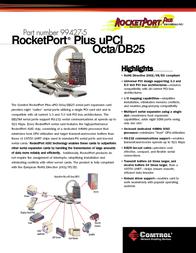 Comtrol RocketPort Plus uPCI Octa DB25 99427-5 Leaflet