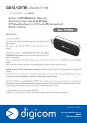 Digicom USB Wave GPRS 8E4366 Leaflet