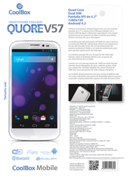 CoolBox QUORE V57 44CMQV57W Leaflet