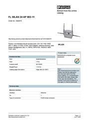 Phoenix WLAN Accespoint 802.11 2884075 User Manual