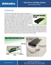 Addonics RUBY DCS FOR 2.5 SATA RDCSSAES User Manual