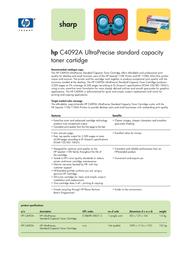 HP 92A C4092A Leaflet