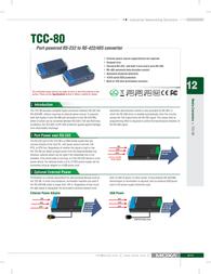 Moxa TCC-80 RS-232 - RS-422/485 Converter TCC 80 User Manual