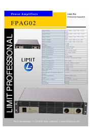 Limit FPAG02 Amplifier FPAG02 Leaflet