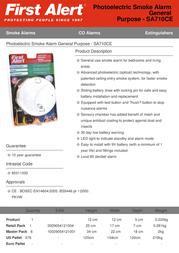First Alert SA710CE Leaflet