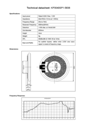 Kepo KP3040SP1-5838 miniature speaker 8 Ω, 650 Hz ± 20 % KP3040SP1-5838 Data Sheet